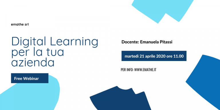 free webinar: digital learning per la tua azienda