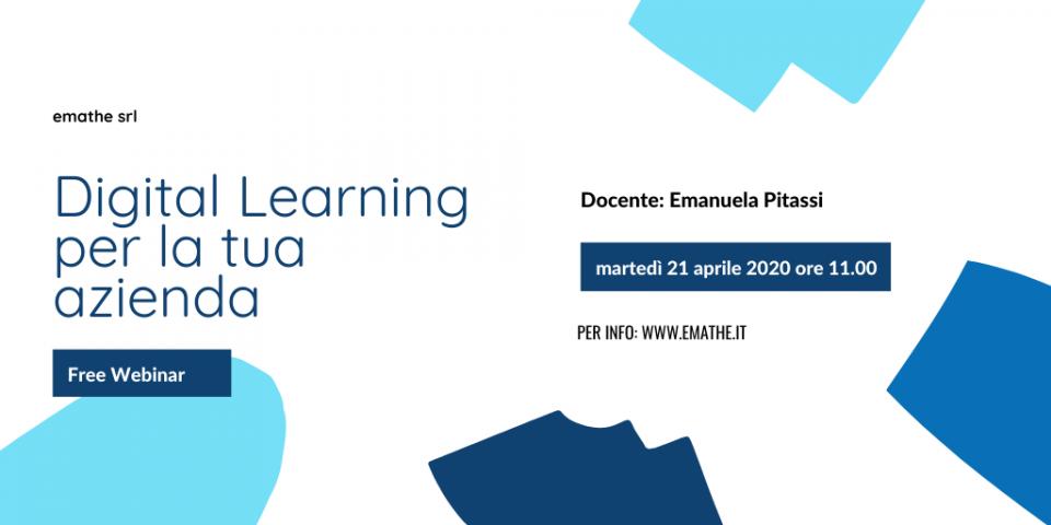 free webinar: digital learning per la tua azienda